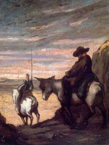 Honoré Daumier Don Quijote y Sancho Panza. Don Quijote de la Mancha… Oil On Canvas, Canvas Art, Canvas Prints, Fine Art Prints, Framed Prints, Poster Prints, Man Of La Mancha, Dom Quixote, Don Miguel
