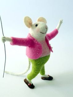 Mouse in pink jacket