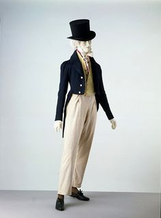 Men's ensemble, UK, 1820-1830.