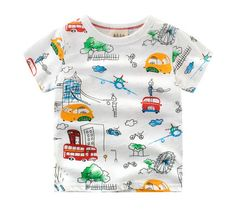 a754168c3e1 Baby Boys Summer Casual T Shirt Short Sleeve Cartoon T-shirt Kids Top Tee Clothes  Children Fashion Cars Shirt Boys Clothes 2-9Y