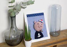 Léon le cochon matelot #crochet #handmade #friendly #cochon #boat #popey