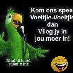 Afrikaans African Jokes, Cute Quotes, Funny Quotes, Afrikaanse Quotes, Twisted Humor, Love You More, Love And Marriage, Friendship Quotes, Hemp