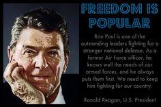 Ronald Reagan for Ron Paul.