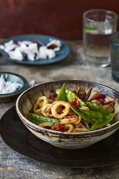 Ever had squid and mangetout in a curry before? Chetna Makan's delicious dish will change that.