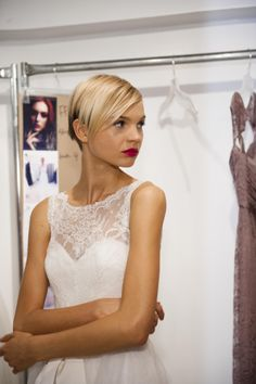 """Amsale Fall 2014 - """"Quinn"""" #wedding #bridal #nitsas #amsale"""