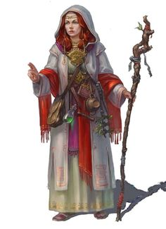 Hella Goradan, a skilled mage (mainly in the animal, earth, mind and spirit lores) from Thor lay suitable earth magic to be able to open a stone door.