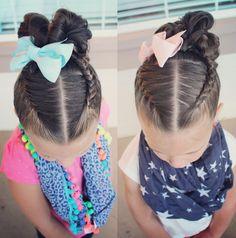 Dutch braids and fishtail braids to messy bun
