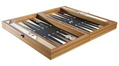 Handmade backgammon from Sy Backgammon | Perfect combination of zebrano wood and leather | Best gift for men | Made in Turkey | Designed by Servet Yazıcı