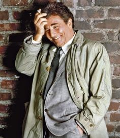 Peter Falk as Inspektor Columbo in his typical Trench Coat Outfit,