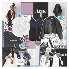 """""""THE TIDE"""" by feels-like-snow-in-september ❤ liked on Polyvore featuring Chanel, PAM, Hanro, MANGO, Acne Studios, Emporio Armani, ASOS, Clips, Jeffrey Campbell and botcsix"""