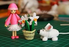 Doll/Plant/Pig Quilled