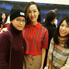 (Pay no mind to how awful I look because this was an awesome moment for me 😆) Mustered up all my courage and journeyed down to @thakoonny Wooster St tonight to meet @chrisellelim! 💕 I was so scared that I almost left before I could meet her 😂😱 Hubby @satyr9 persuaded me to stay, however (my rockstar 😘)! Chrissy, thanks for being so sweet and sorry I was so weird 😅 It was wonderful to meet you #NYFW #Thakoon #OOTD #LOTD #WIW