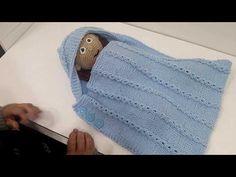 Como hacer un portabebe tejido en dos agujas - YouTube