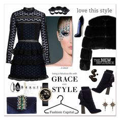 """""""Grace&Style"""" by zabead ❤ liked on Polyvore featuring Givenchy, Sondra Roberts, self-portrait, Chloé, Alexander McQueen, Dsquared2, Chanel, Carolina Herrera and beautyblender"""