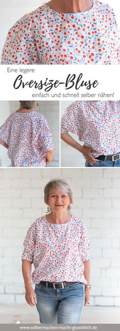So nähst du eine legere Oversize-Bluse schnell und einfach – Selbermachen macht… How To Sew A Casual Oversize Blouse Quick And Easy – Do It Yourself … – Sweat Shirt, Pullover Shirt, Smock Dress, Tee Dress, Bodycon Dress, Casual Hairstyles, Diy Hairstyles, Corsage, Diy Kleidung