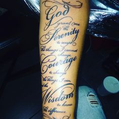 30 Inspiring Serenity Prayer Tattoo Designs-Serenity, Courage and Wisdom for a Prosperous Life Check more at http://tattoo-journal.com/best-serenity-prayer-tattoo/