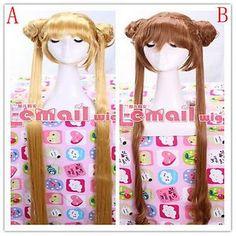 Aino Minako Sailor Moon Long Straight 2 Style Multiple Cosplay Hair Wig Cap MX18   eBay