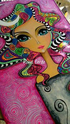 ANOCHECER- Pop Art Face, Red Wall Art, Abstract Face Art, Happy Paintings, Arte Pop, Elements Of Art, Fish Art, Art Journal Inspiration, Whimsical Art