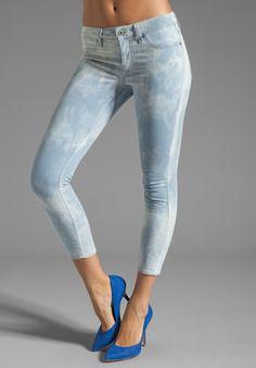 SUNBLEACHED: Dakota Collective Bridget Skinny Crop in Bleached Tie-Dye