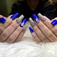 Leopard Print Nails, Swarovski Nails, Bling Nails, Nail Designs, Nail Art, Instagram Posts, Beauty, Nail Desings, Nail Arts