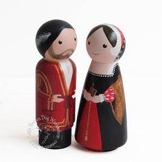LittleBrownDogUK Historic clothing peg doll portrait personalised family