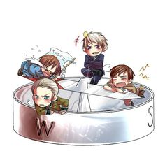 Hetalia Compass North Italy, east Prussia, west Germany, South Romano