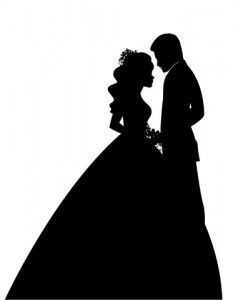 Sleeping Beauty Clipart bride groom silhouette wedding 5 - 233 X 300 for Android, Windows, Mac and Xbox Bride And Groom Silhouette, Couple Silhouette, Wedding Silhouette, Silhouette Art, Wedding Anniversary Cards, Wedding Cards, Pop Up Karten, Disney Silhouettes, Couple Wallpaper