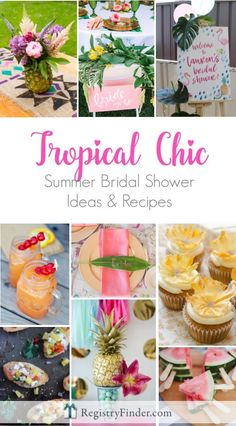 21b7ad590a7c Tropical Bridal Shower Idea  Palm Trees and Paradise Bridal Brunch ...
