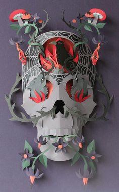 Paper cut art displayed in Brighton England