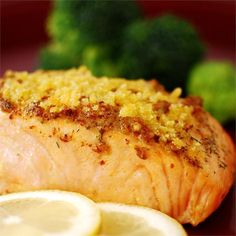 "Baked Salmon Fillets Dijon I ""I LOVED this recipe. Best salmon I have ever tasted!"""
