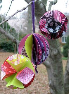 Ornaments by all things paper, via Flickr