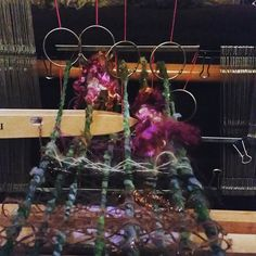 Warp with super bulky yarn. Bringing texture into your warp! DIY heddles!!