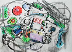 """#Pintura """"Más de 300 horas""""  200 x 280 cm  Acrílico sobre canva  Ana Abregú 2012"""