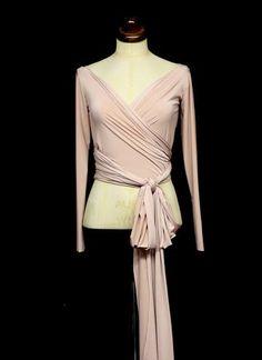 3ad8703a7d4e4a Bespoke. Bespoke Mia Jersey Ballet Wrap Top. Alexandra King