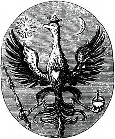 Emblem 9 (of 12) from the 1752 Hermaphrodite Child of the Sun and Moon by unknown alchemist L.C.S., reproduced by Adam McLean (p42).