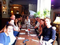 A farewell pizza lunch for Graduate Insight Exec Kaibo Chen. We miss you already! Best of luck in China Kaibo.