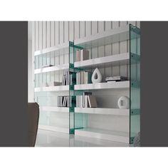 Βιβλιοθήκη Blow Κομψή βιβλιοθήκη για το σπίτι κάθε λάτρη του βιβλίου! Υλικά: κατασκευασμένη από λακαριστό MDF ξύλο και γυαλί. Shelving, Bookcase, Glass, Home Decor, Shelves, Decoration Home, Drinkware, Room Decor, Corning Glass