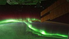 Great view of the northern lights from the Int. Space Station