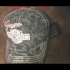 Ladies Harley Davidson Pink Embellished Hat Ladies Harley Davidson pink  embellished trucker hat Harley-Davidson Accessories Hats 4822a35999e