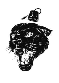crunchblog:  A tribute to graffiti writer, good friend, and flatmate, Ekons (40hk). Rest in peace. Croquis, Black Panther Tattoo, Tattoo Wolf, Tatoo, Future Tattoos, New Tattoos, Hair Drawings, Wolf Black, Dark Art