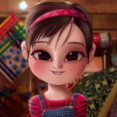 Cartoon, Portrait, Digital Art, Digital Drawing, Digital Painting, Character Design, Drawing, Big Eyes, Cute, Illustration, Art, Girl, Andi, Mack, Peyton, Elizabeth, Lee, Disney