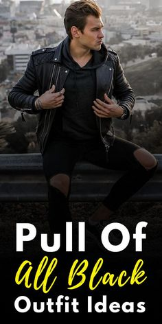 Black Outfit Ideas for Men All Black Suit, All Black Looks, Sweater And Jeans Outfit, Sweaters And Jeans, Jean Outfits, Casual Outfits, Men Casual, Latest Beard Styles, Mens Fashion Blog