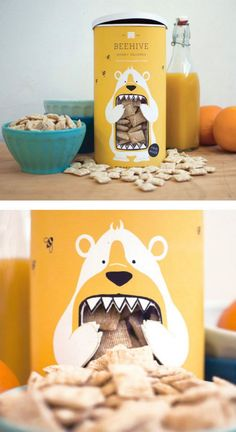 Coolest Food Packaging Design Idea (14) Bakery Packaging, Clever Packaging, Food Packaging Design, Product Packaging Design, Cookies Branding, Jar Packaging, Cereal Packaging, Cookie Packaging, Pretty Packaging