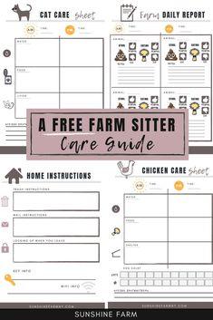 Vacation as a Homesteader or Hobby Farmer with a FREE Farm Sitter Care Guide - Nutztiere Tiny Farm, Small Farm, Farm Layout, Farm Lifestyle, Homestead Farm, Cattle Farming, Future Farms, Farm Gardens, Veggie Gardens
