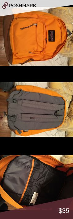 Jansport Orange Original Backpack Used less than 10 times, super clean looks brand new Jansport Bags Backpacks