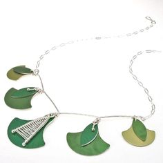 Handmade anodized aluminum and silver jewelry. Earrings, pendants, bracelets and necklaces made by Mandy Allen. Metal Jewelry, Silver Jewelry, Leaf Necklace, Metal Art, Portland, Bronze, Pendants, Gemstones, Sterling Silver