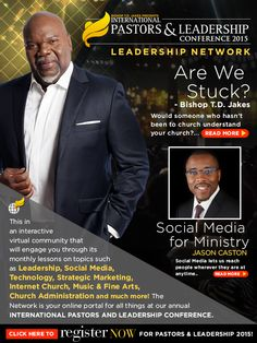 Join the Pastors and Leadership Conference Network, Our interactive virtual community that will engage you with monthly lessons and topics taught at the International Pastors and Leadership Conference. http://pastorsandleaders.org/leadershipnetwork