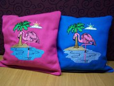 Set of Eight Flamingo Flamingoes Embroidered by WoobiesGifts, $39.95