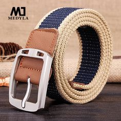 HOT Luxury Mens Belts 2017 Real Marcas Belt Fashionable Classic Brand Pin Buckle Strap Brand Cinto Masculino  Canvas Strap Casua
