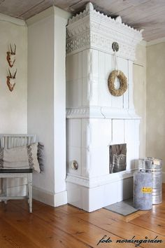 Spectacular old farmhouse fireplace/heater.